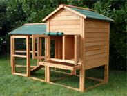 Large Rabbit Hutch With Run